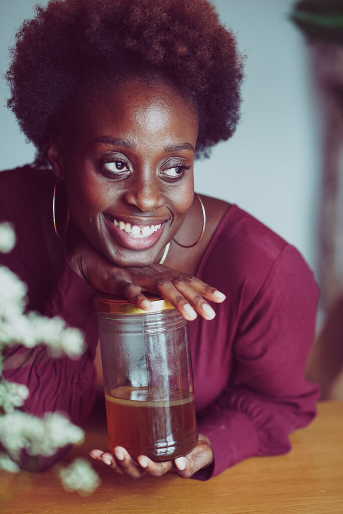 Grüner Tee Kräuter Shampoo für Afro Haare